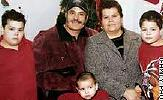 Slain: Emma Valdez and Alberto Covarrubias (center); sons Alberto (left) and David (right); and grandson Luis (bottom).