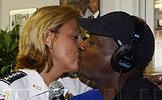 Police Chief Cathy Lanier and Donnie Simpson