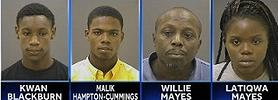 Kwan Blackburn, 17; Malik Hampton-Cummings, 17; Willie Mayes, 59; and Latiqua Mayes