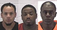 Chase West (left) Joshua Scott (middle) Claude Jackson (right)