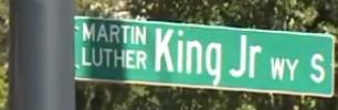 MLK Jr street sign
