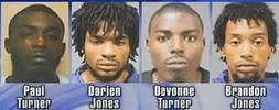 4 black suspects