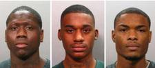 Rakeem Saleem Mitchner, 24, Martin Anthony King, 20, and Stanley Theodore Armitage, 20