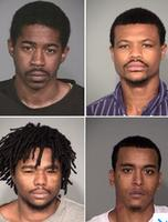 Adrian Anthony (clockwise from top left), Alexander Dupree, Demetre Brown and Michael Pugh are to be sentenced on Friday, May 1, 2015, in in a violent home invasion and sexual assault on Indianapolis' Far Northside in October 2013.