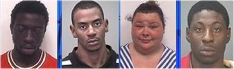 Archie Beedoe, 22, of Winston-Salem; Eric Brown, 22, of Winston-Salem; Dorothy Haithcock, 23, of Lexington; and Joseph Keels, 22