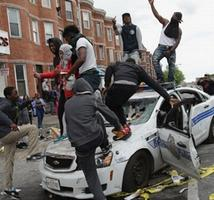 picture from Baltimore riots to illustrate story - ed.