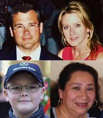 Savvas Savopoulos, 46; Amy Savopoulos, 47; their son, Philip; and housekeeper Veralicia Figueroa, 57,