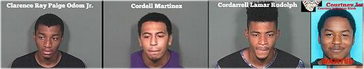 3 arrested, 1 at large