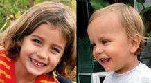 Lucia Krim, 6, and Leo Krim, 2