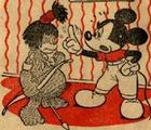 Mickey Mouse scolds naughty Ubangi