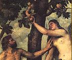 Adam and Eve picking avocados